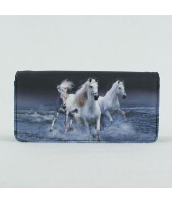 Portefeuille - 3 chevaux blancs sur l eau
