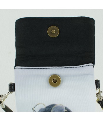 Petites pochettes téléphone - Bébé bouledogue Français noir couché