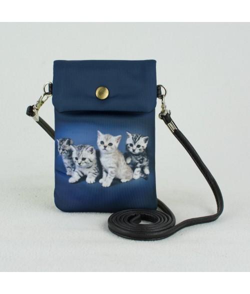 Petites pochettes téléphone - 4 Chatons Tigrés
