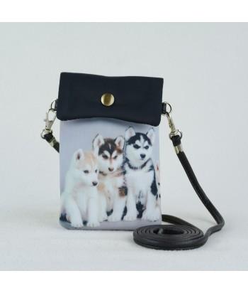 Petites pochettes téléphone -  Huskies