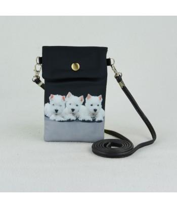 Petites pochettes téléphone - 3 westies
