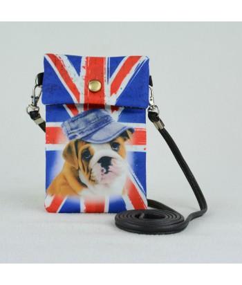 Petites pochettes téléphone - Bouledogue Anglais drapeau