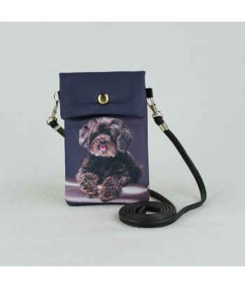 Petites pochettes téléphone - Caniche noir