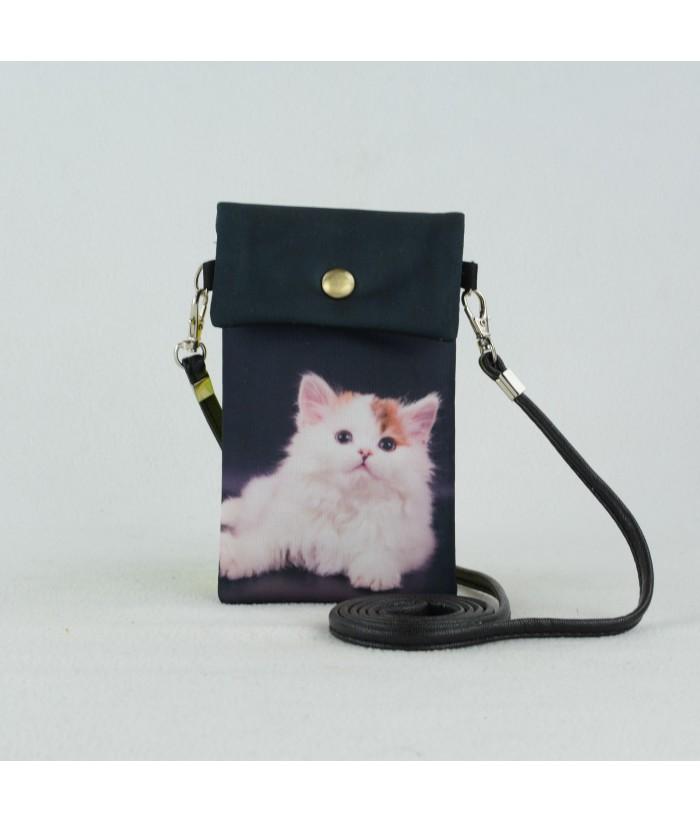 Petites pochettes téléphone - Chat avec la souris