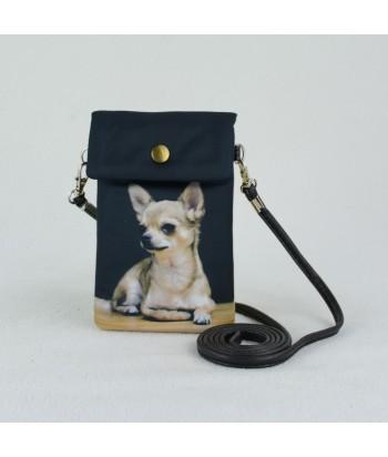 Petites pochettes téléphone - Chihuahua solo