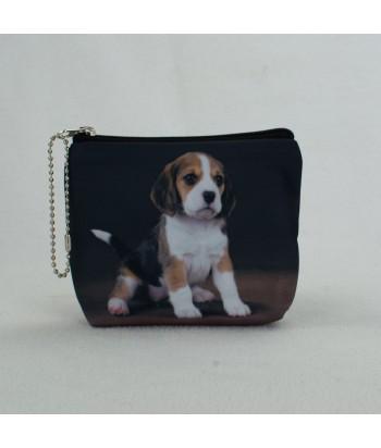 Porte monnaie plat - Bébé Beagle