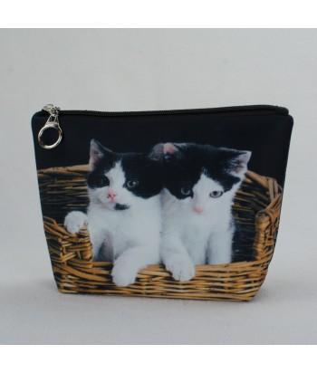 Trousse - 2 chats dans le panier