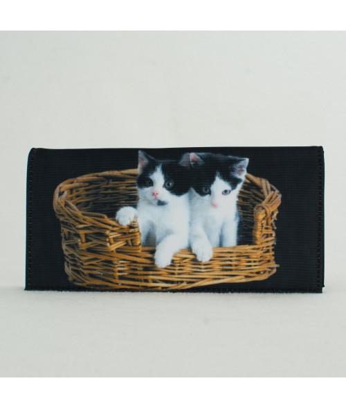 Porte-documents voiture - 2 chats dans le panier