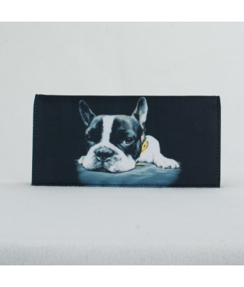 Porte-documents voiture - Bouledogue Francais bandana