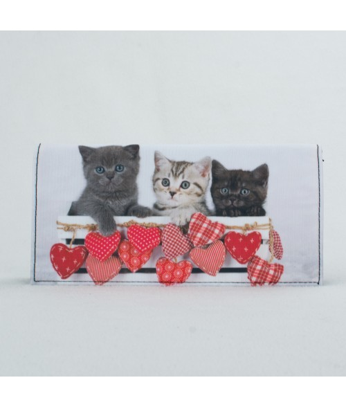 porte-documents voiture - Chatons petits coeurs