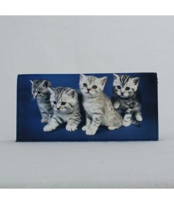 Porte-documents voiture - 4 chatons tigrés