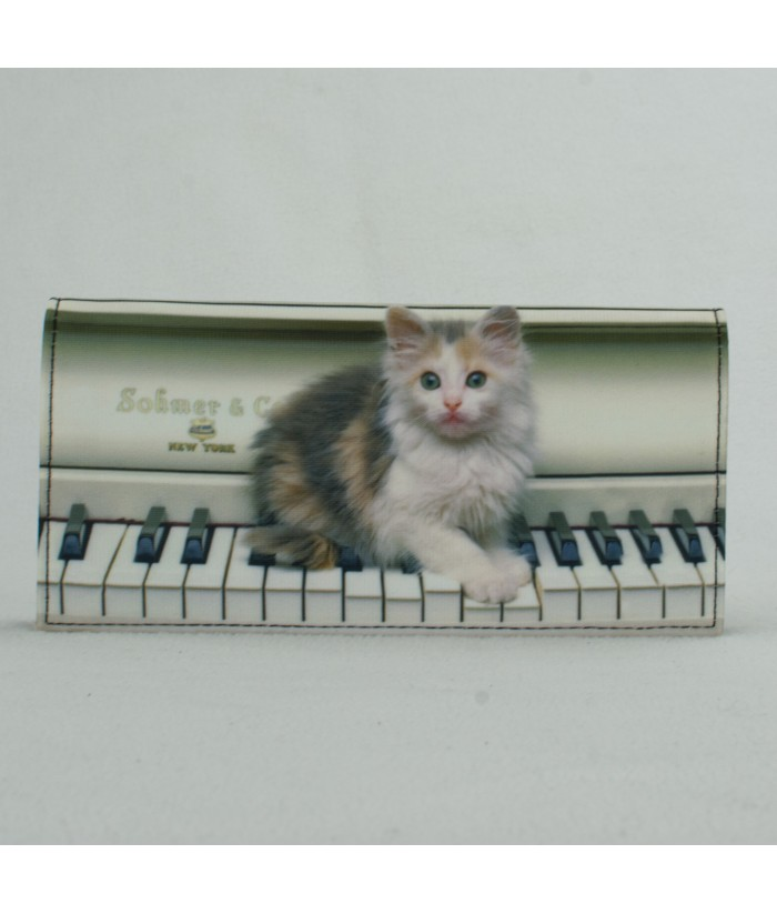 Porte-documents voiture - Chat piano