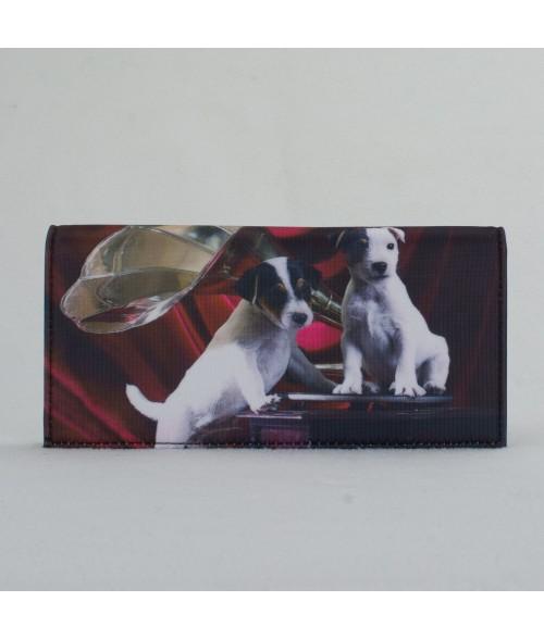 Porte-documents voiture - 2 Jacks Russels noir et rouge