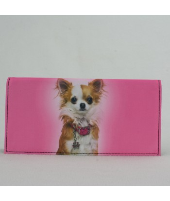 Porte-documents voiture - Chihuahua rose