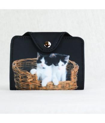 Porte-cartes - 2 chats dans le panier