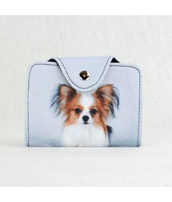 Porte-cartes - Chihuahuas Epagneul bi-color