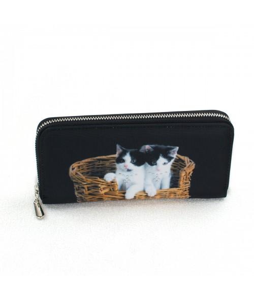 Compagnon avec zip - 2 chats dans le panier