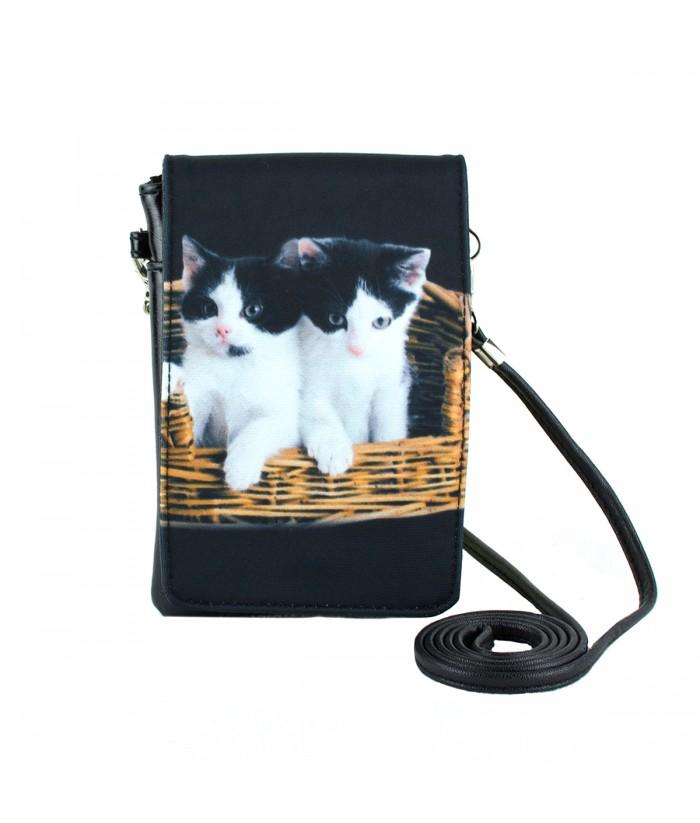 Pochettes téléphones XXL - 2 chats dans le panier
