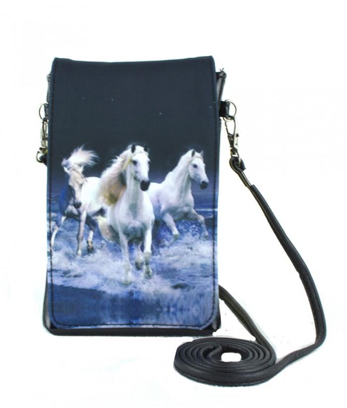 Pochettes téléphones XL - 3 chevaux blancs sur l eau