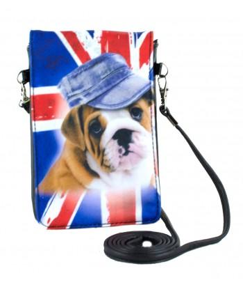 Pochettes téléphones XL - Bouledogue Anglais drapeau