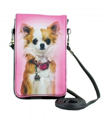 Pochettes téléphones XL - Chihuahua rose