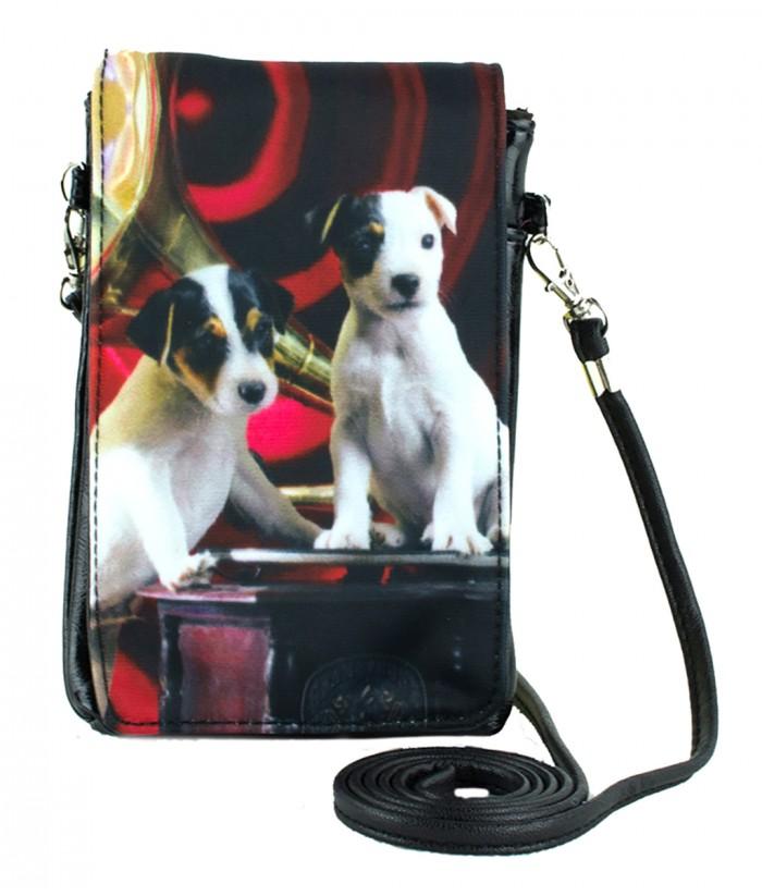 Pochettes téléphones XXL - 2 Jacks Russel noir et rouge