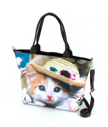 Sac Grand week-end - chat chapeau