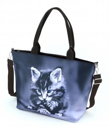 Sac Grand week-end - chaton aux yeux bleus