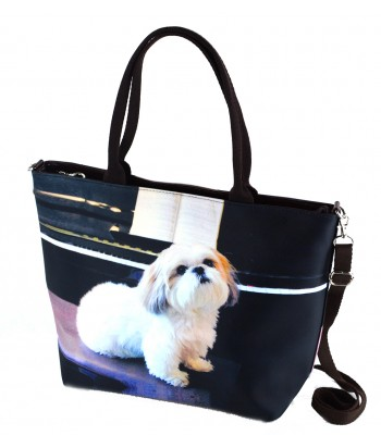 "Sac grand ""week-end"" - Shih Tzu piano"