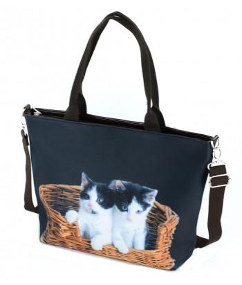 Sac Grand week-end - 2 chats dans le panier