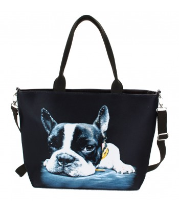 "Sac grand ""week-end"" - Bouledogue bandana"