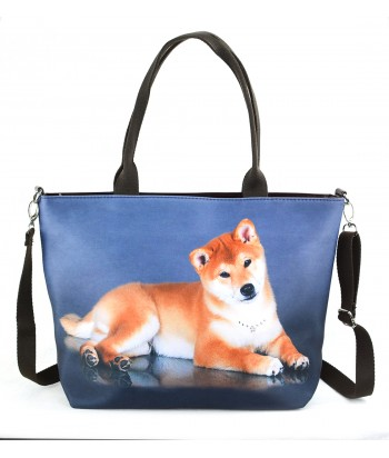 "Sac grand ""week-end"" - Shiba inu roux"
