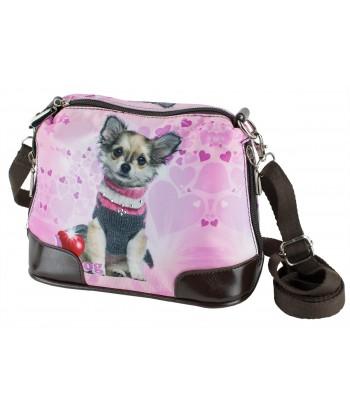 Petit sac bandoulière - Chihuahua col roulé