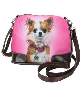 Petit sac bandoulière - Chihuahua rose
