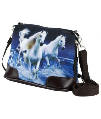 Petit sac bandoulière - Chevaux sur l'eau