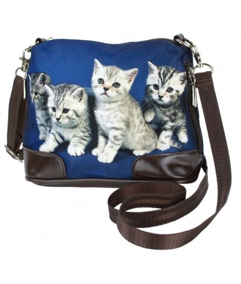 Petit sac bandoulière - 4 chatons tigrés