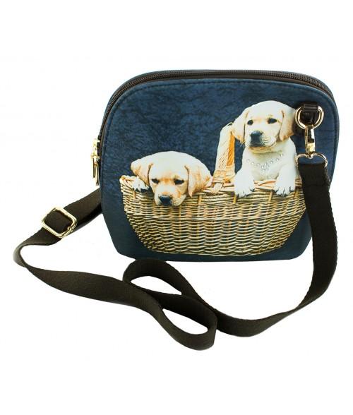 Le sac coque rigide - 2 bébés Labradors dans le panier