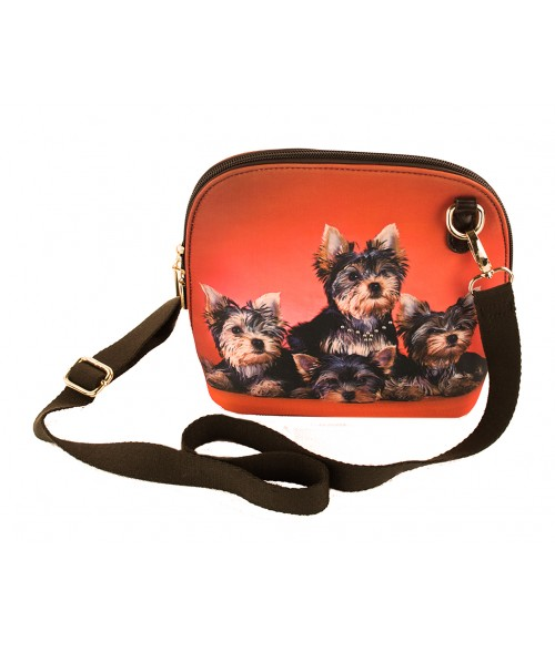 Le sac coque rigide - Les 4 yorks fond rouge orangé