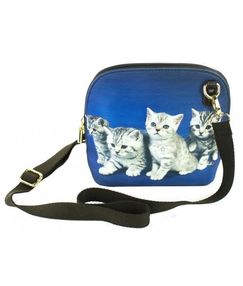 Le sac coque rigide - Les 4 chatons tigrés