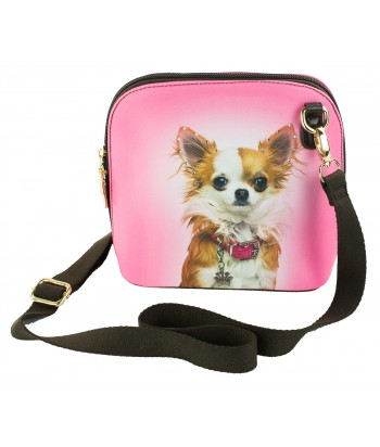 Le sac coque rigide - Chihuahua rose