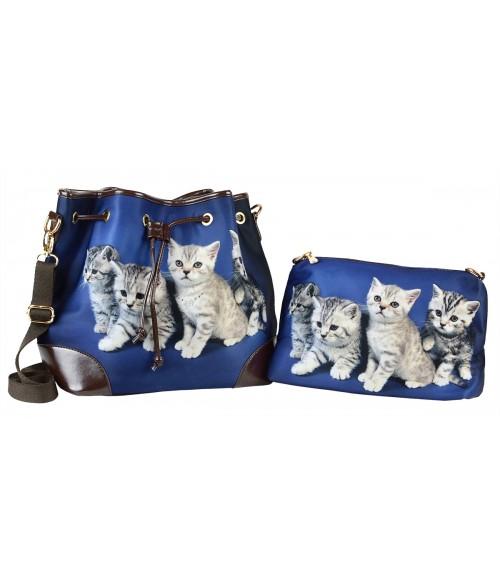 Les sacs 2 en 1 - Les 4 chatons tigrés