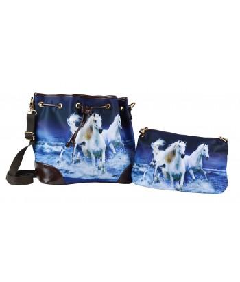 Les sacs 2 en 1 - 3 chevaux blancs sur l'eau