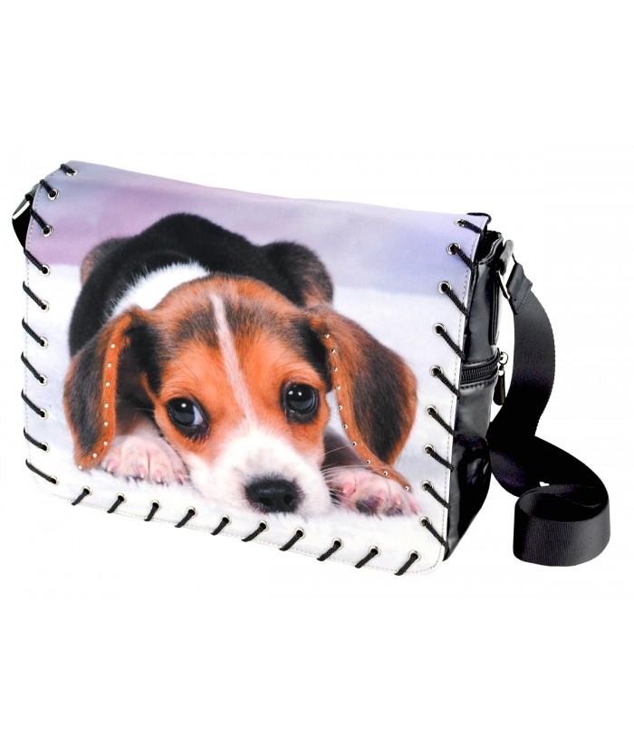 Sac Bandoulière - beagle couché