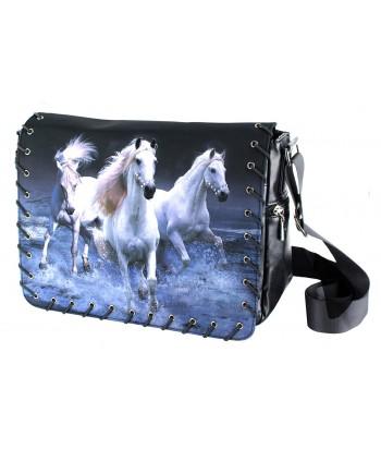Sac Bandoulière 3 chevaux blancs sur l eau