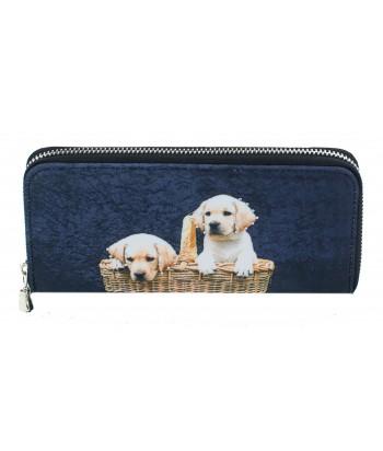 Compagnon avec zip - 2 bébés Labradors dans le panier