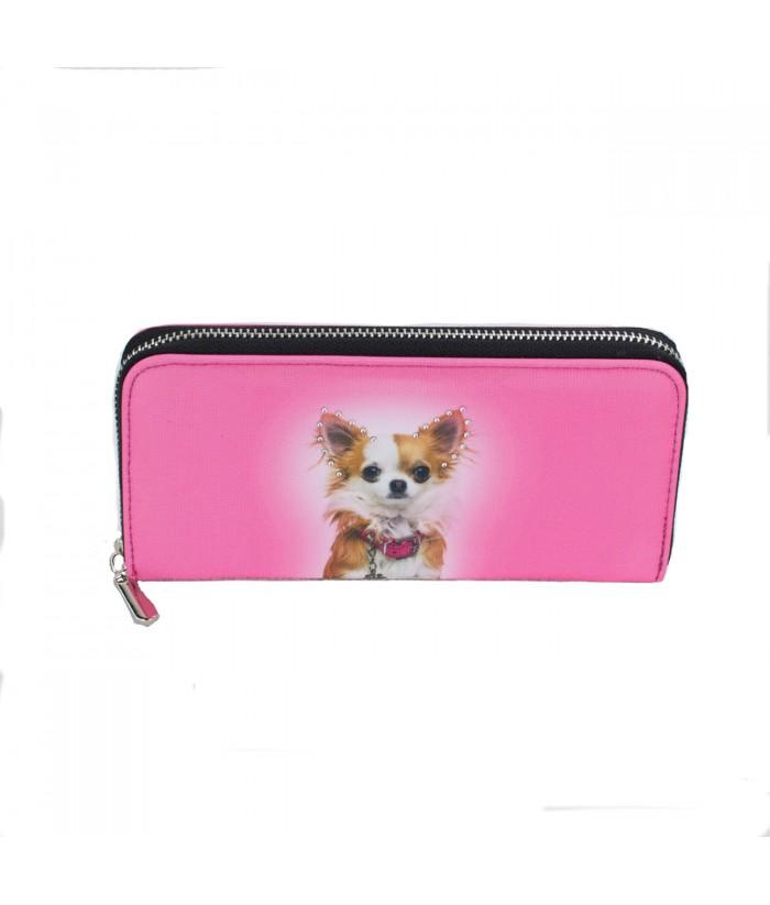 Compagnon avec zip - Chihuahua rose