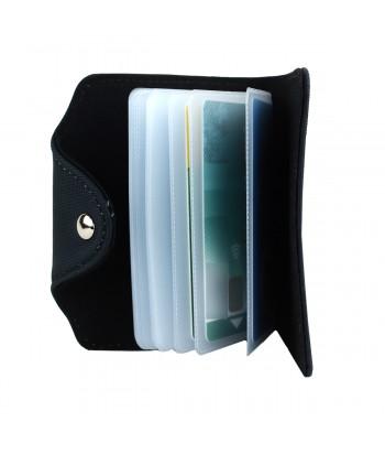 Porte-cartes - Chat persan blanc fond bleu roi