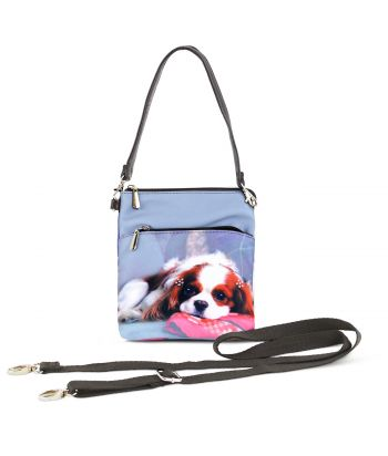 Sacoche toile satinée - Cavalier King Charles Blenheim