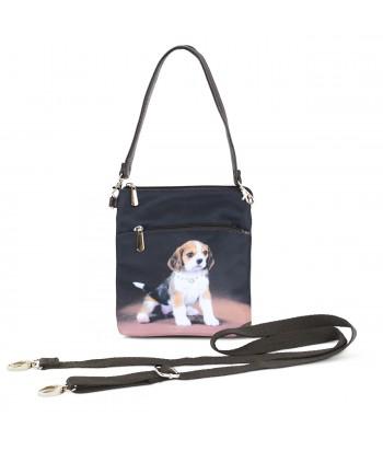 Sacoche toile satinée - Bébé Beagle