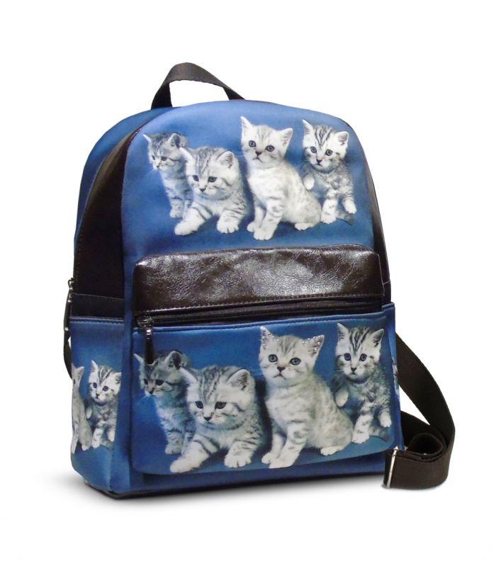 Sac à dos - 4 chatons tigrés